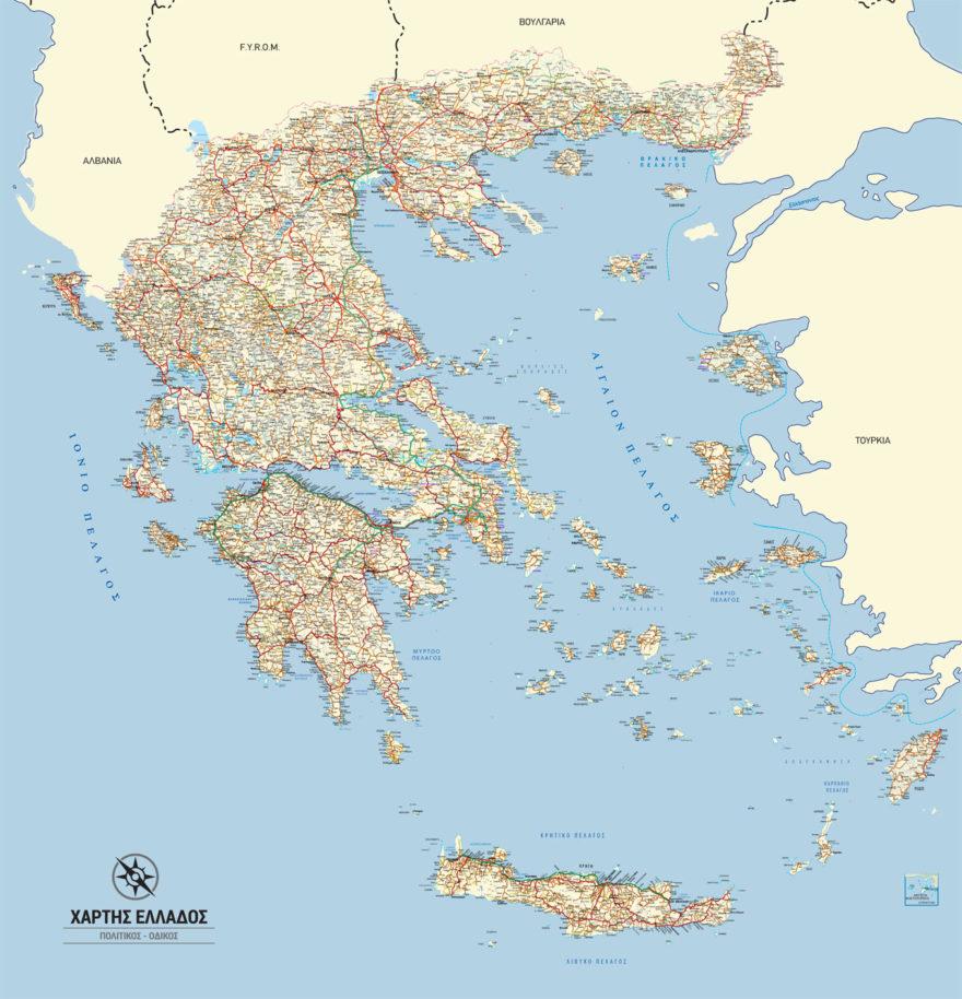 χάρτης Ελλάδας τοίχου
