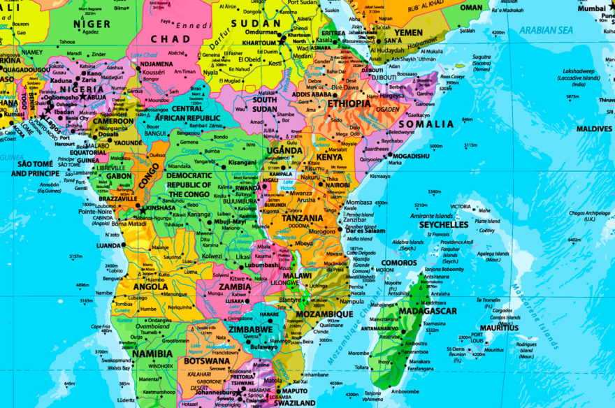λεπτομέρεια παγκόσμιου χάρτη
