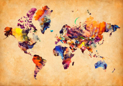 Παγκόσμιος διακοσμητικός χάρτης