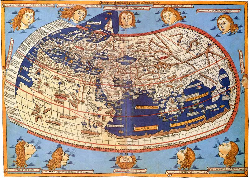 μεσαιωνικός χάρτης