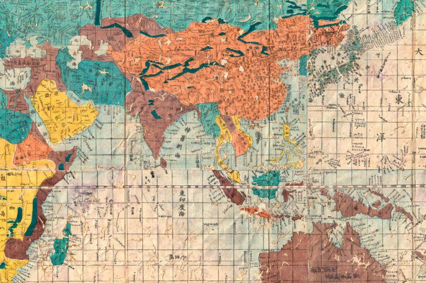 Ιαπωνικός χάρτης λεπτομέρεια