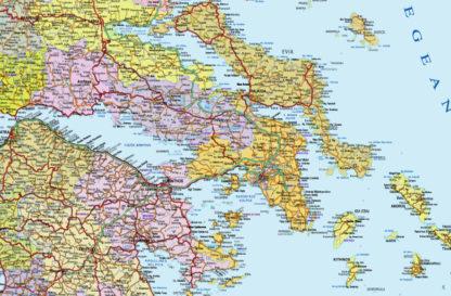 greece map detail