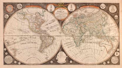 χάρτης τοίχου αντίκα