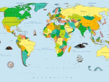 Παγκόσμιος Πολιτικός χάρτης στα Ελληνικά