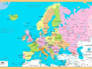 σχολικός χάρτης Ευρώπης
