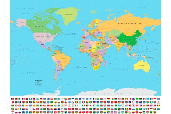 χάρτης με σημαίες