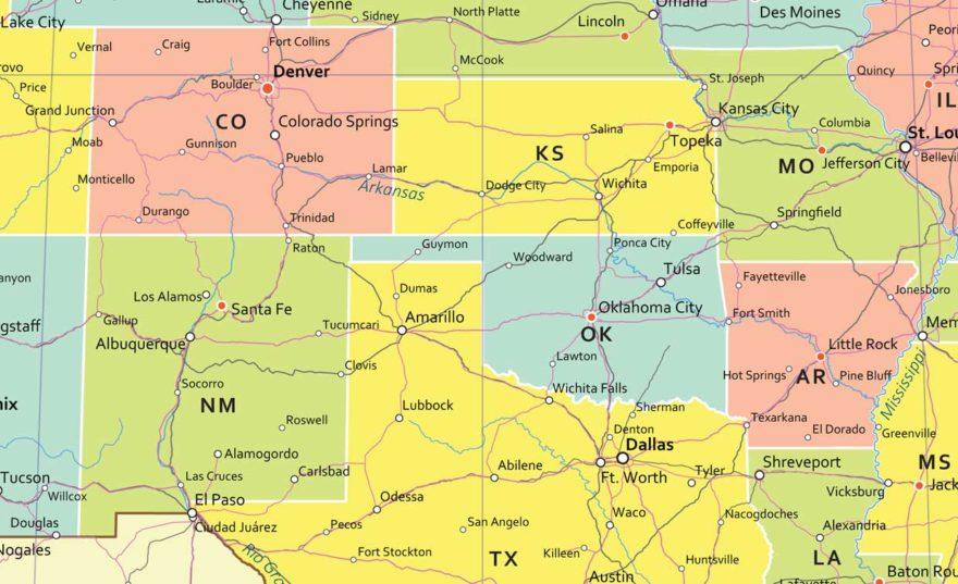 χάρτης τοίχου αμερικής