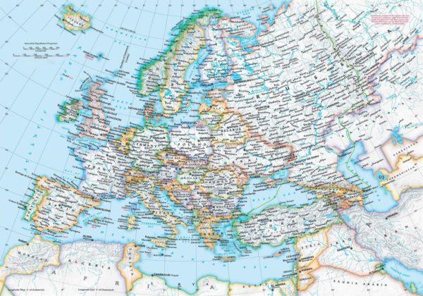χάρτης Ευρώπης πολιτικός
