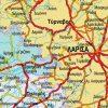 χάρτης Θεσσαλίας λεπτομέρεια