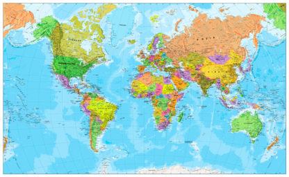 παγκόσμιος χάρτης στα Ελληνικά λεπτομερής