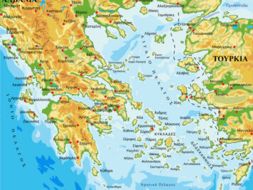 γεωφυσικός χάρτης Ελλάδας