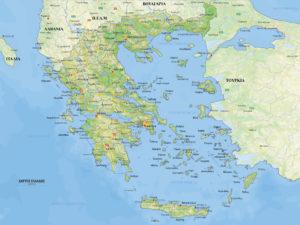 μεγάλος χάρτης Ελλάδας