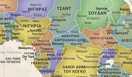 λεπτομέρεια παγόσμιου χάρτη