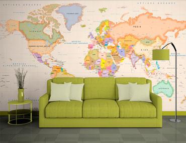 ταπετσαρία τοίχου χάρτης