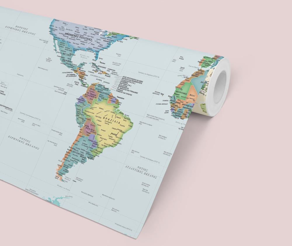 ταπετσαρίες τοίχου χάρτης