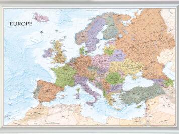 Λεπτομερής χάρτης Ευρώπης