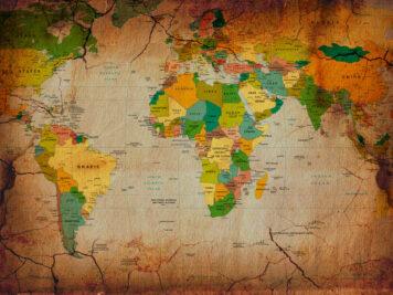 χάρτης τοίχου παγκόσμιος