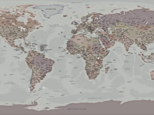 Παγκόσμιος χάρτης με ουδέτερα χρώματα