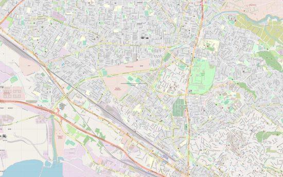 χάρτης Θεσσαλονίκης με οδούς