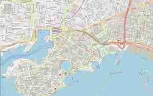 Αναλυτικός χάρτης Πειραιά με οδούς